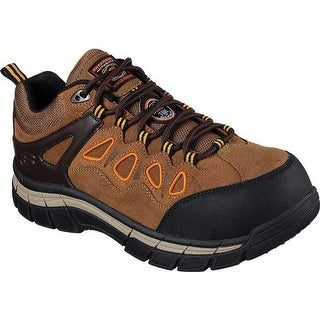Skechers Men's Work Relaxed Fit Dunmor Comp Toe Lace Up Brown/Orange
