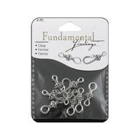Sweet Beads Fund Find Hook Clasp 25mm 4pc Slvr
