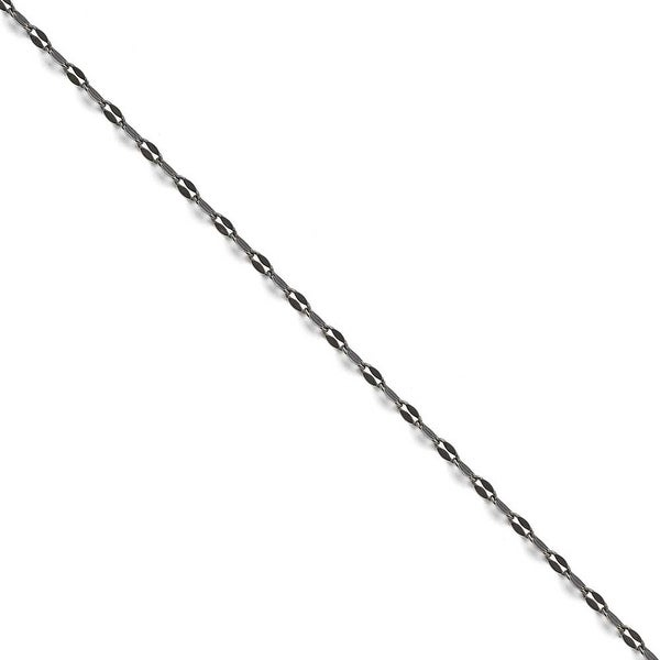 Chisel Stainless Steel 2.50mm Oxidized Fancy Chain (2.5 mm) - 22 in