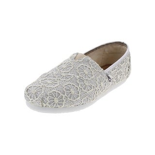 Toms Girls Classic Slip-On Shoes Low Sparkly