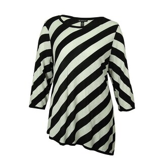 INC Women's Scoop Neck Striped Sweater