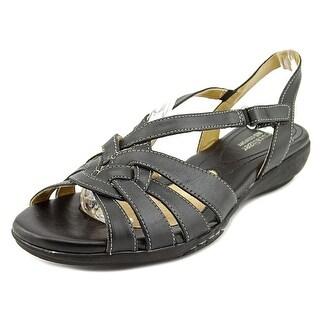 Naturalizer Convey Women Open Toe Leather Wedge Heel