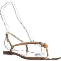 I35 Moirahhaz Flat Sandals, Hazelnut - 9.5 us
