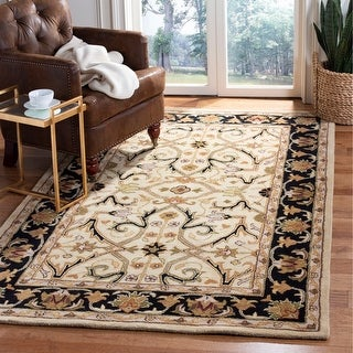 Link to Safavieh Handmade Heritage Lynsey Traditional Oriental Wool Rug Similar Items in Transitional Rugs
