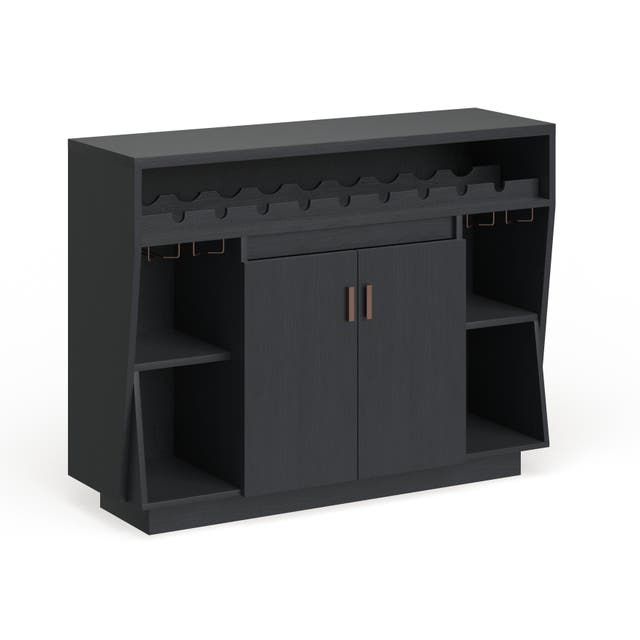 Furniture of America Ping Contemporary Black 47-inch Dining Buffet
