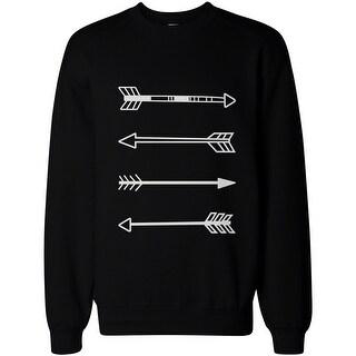 Tribal Arrows Men's Black Graphic Sweatshirt