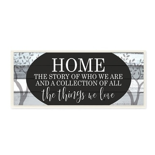 Link to Stupell Industries Story of Home Phrase Trees Wood Texture Design,7 x 17,  Wood Wall Art Similar Items in Wood Wall Art