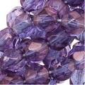 Czech Fire Polished Glass Beads 6mm Round 'Amethyst Glow' (25) - Thumbnail 0