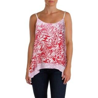Aqua Womens Ombre Lined Pullover Top