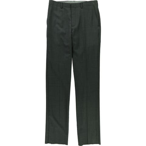 Tallia Mens Patterned Dress Pants Slacks, Grey, 31W x UnfinishedL - 31W x UnfinishedL