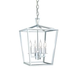 """Norwell Lighting 1080 Cage 12"""" Wide 4 Light Pendant with Steel Cage"""