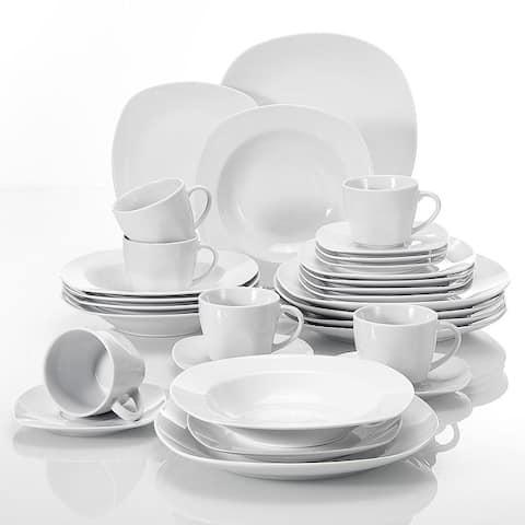 MALACASA Elisa Porcelain Dinnerware Set (Service for 6)