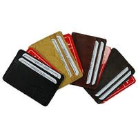 Credit Card Wallet, a Slim Pocket-Size Organizer! - burgundey