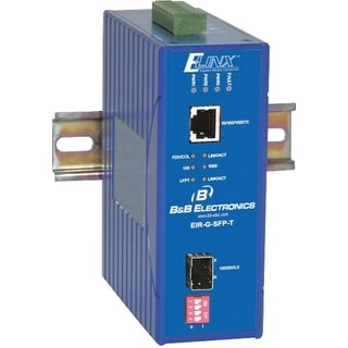 B&B Electronics EIR-G-SFP-T B&B Ethernet Media Converter Gigabit - 1 x Network (RJ-45) - 10/100/1000Base-T, 1000Base-SX/LX - 1 x