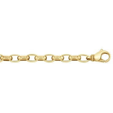 Men's 10K Gold 8.5 inch Fancy Link Chain Bracelet