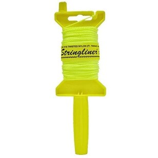 Stringliner 11712 Chalk Mason Line with Reel, 500', Yellow