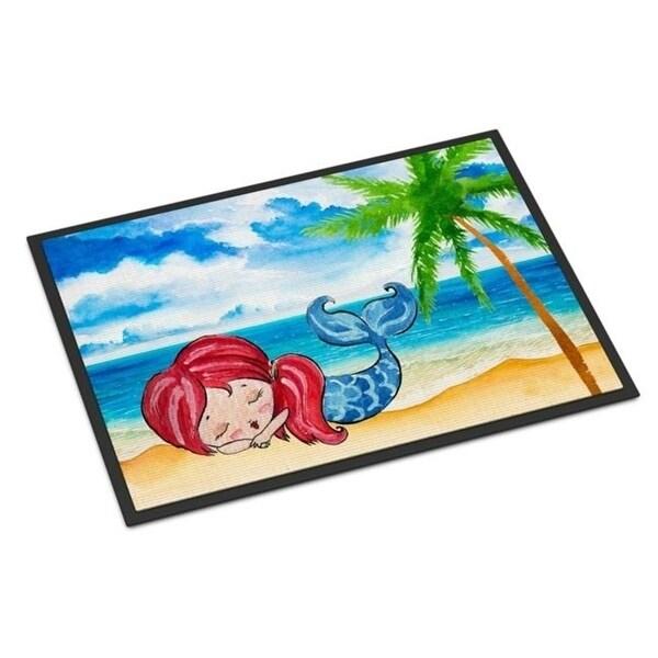 Carolines Treasures BB8513JMAT Mermaid On The Beach Indoor Or Outdoor Mat - 24 x 36 in.