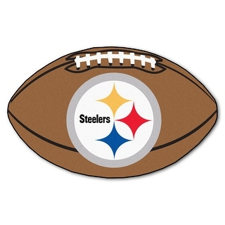 NFL Pittsburgh Steelers Football Shaped Mat Area Rug N A