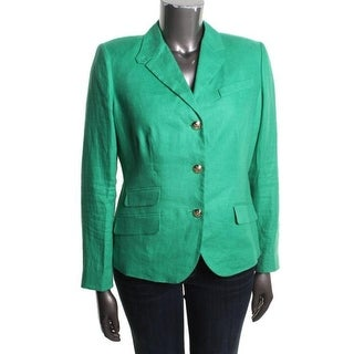 Lauren Ralph Lauren Womens Three-Button Blazer Linen Fitted - 6