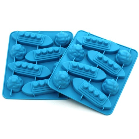 Titanic & Icebergs Silicone Mold for Ice, Chocolates, Jello, Crayons and More! (2-Pack)
