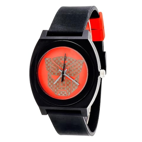 Transformers Analog Watch With Rubber Band - Autobot Red