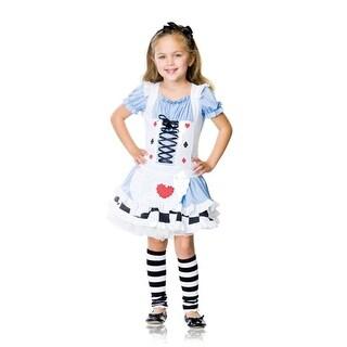 Adorable Miss Wonderland Kids Halloween Costume