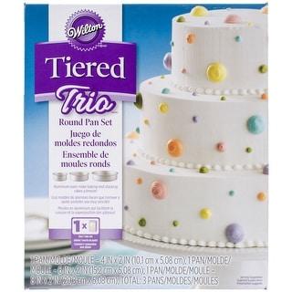 """Tiered Trio Cake Pan Set-Round 4"""", 6"""" & 8"""""""