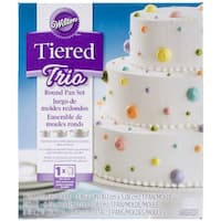 "Tiered Trio Cake Pan Set-Round 4"", 6"" & 8"""