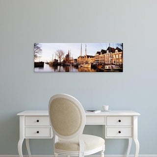 Easy Art Prints Panoramic Images's 'Hoorn, Holland, Netherlands' Premium Canvas Art