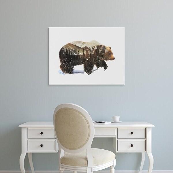 Easy Art Prints Andreas Lie's 'Arctic Grizzly Bear' Premium Canvas Art