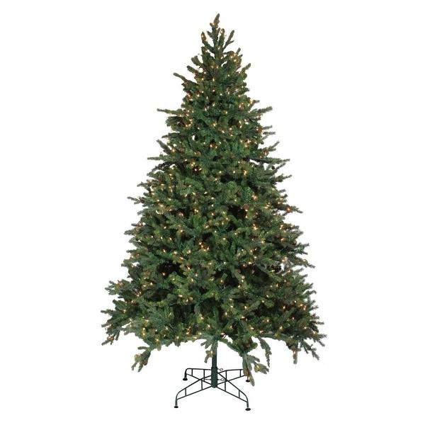 9' Pre-Lit Hunter Fir Artificial Full Christmas Tree - Clear Lights