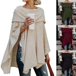 Cold Shoulder Cloak Long Sleeve Top