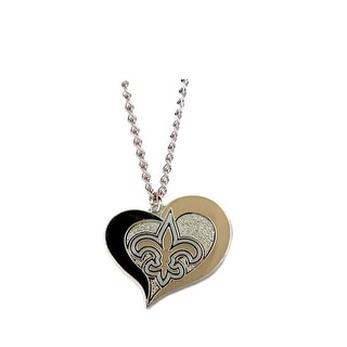 New Orleans Saints NFL Swirl Heart Necklace