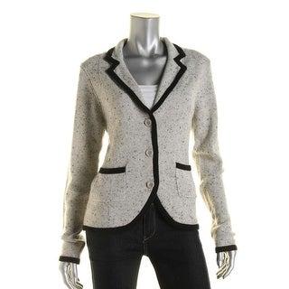 Private Label Womens Cashmere Contrast Trim Cardigan Sweater