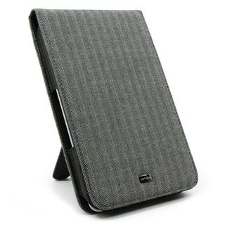 JAVOedge Herringbone Flip Case for Barnes & Noble Nook - gray