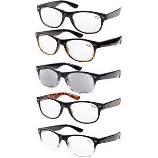 Eyekepper 5-pack Spring Hinges Reading Glasses Include Sun Reader