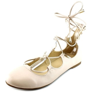 Forever Saniya-1 Women Round Toe Synthetic Nude Ballet Flats
