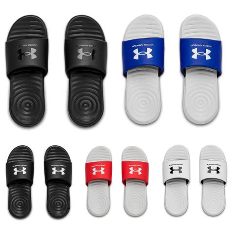 Under Armour Men's Sandals UA Ansa Fixed Strap Athletic Flip Flop Slide 3023761