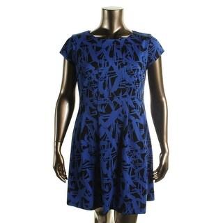 MICHAEL Michael Kors Womens Stretch Printed Wear to Work Dress - 4