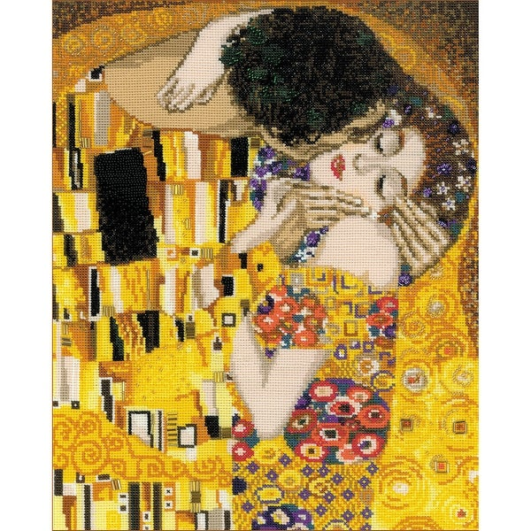 "The Kiss/G. Klimt's Painting Counted Cross Stitch Kit-11.75""X13.75"" 14 Count"