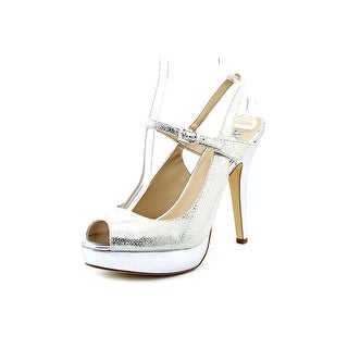 INC International Concepts Mariela Open Toe Leather Platform Heel
