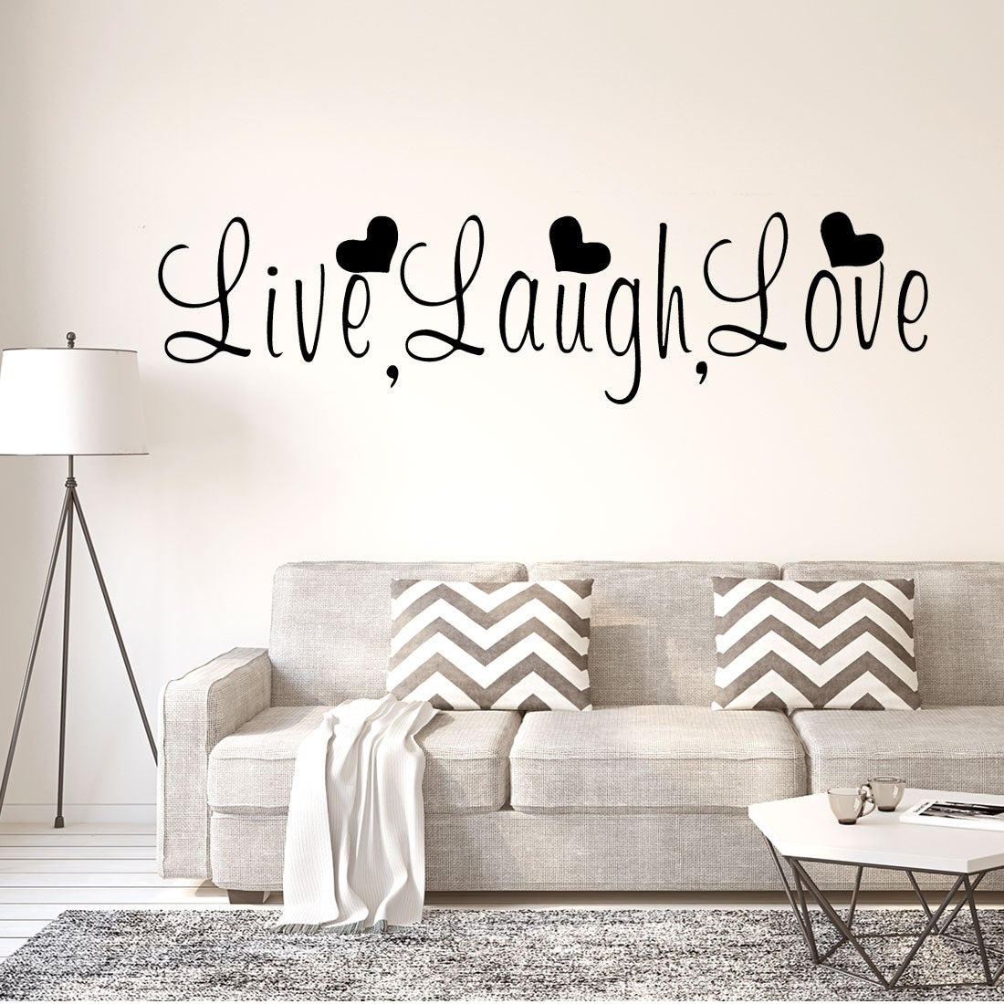 Live Laugh Love Wall Art Sticker Quote Decor Decal Vinyl Lounge Kitchen Room Bed