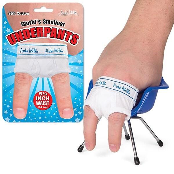 World's Smallest Underpants Gag Gift - Multi
