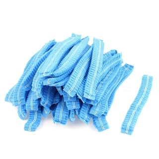 Unique Bargains 100Pcs Elastic Band Disposable Bouffant Caps Hair Cover Shower Caps
