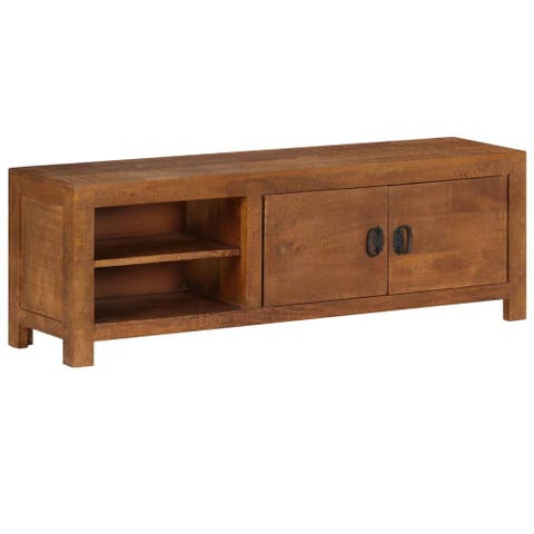 "vidaXL TV Cabinet 47.2""x15.7""x11.8"" Solid Mango Wood"