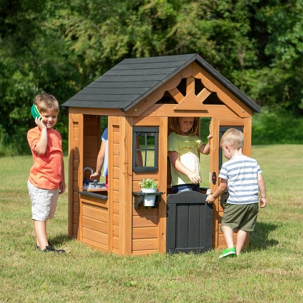 Backyard Discovery Sweetwater Wooden Playhouse. Opens flyout.