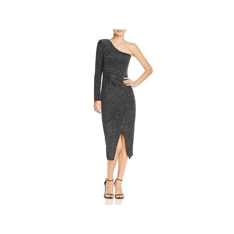 Bardot Womens Midi Dress One Shoulder Cocktail
