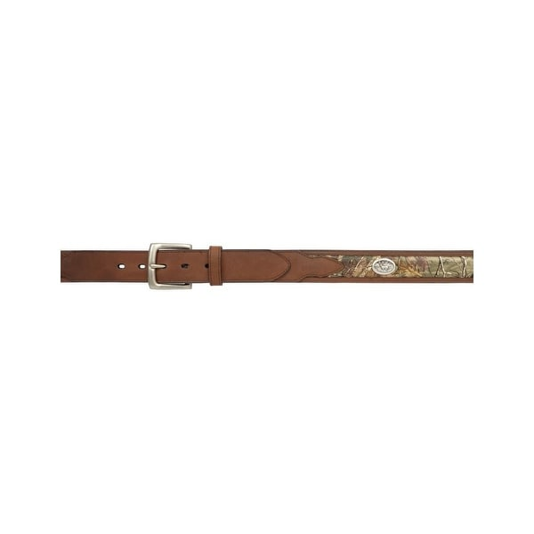 Badger Western Belt Mens Overlay Feathered Conchos Brown