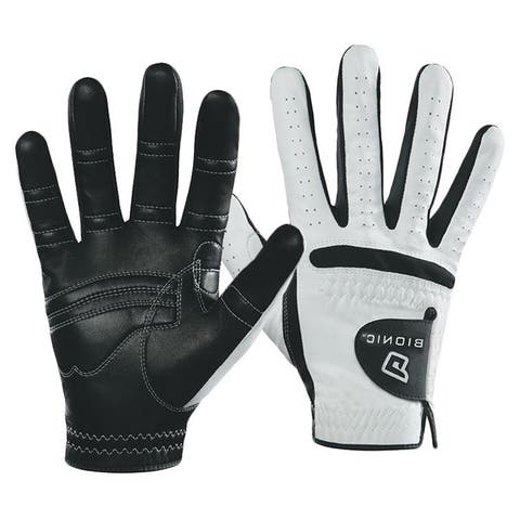 Bionic Men's RelaxGrip Black Palm Right Hand Golf Glove - White/Black