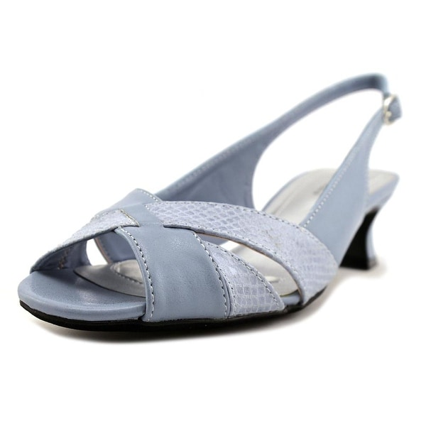 Easy Street Ariel Women Round Toe Synthetic Blue Slingback Heel